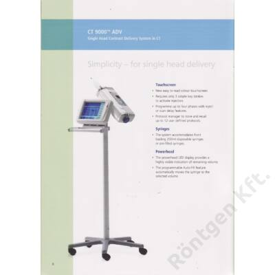 CT 9000 kontrasztanyag injector
