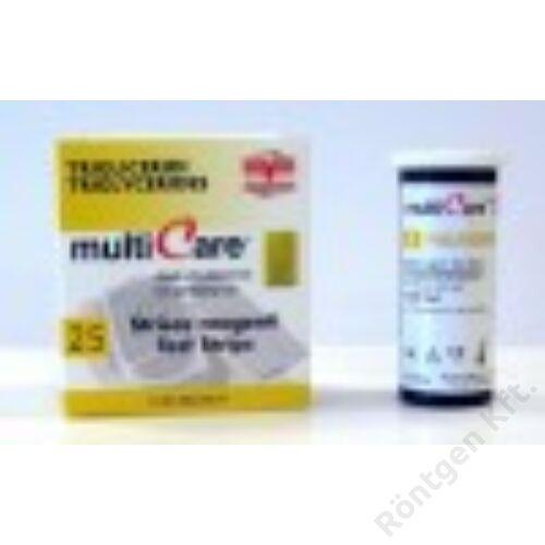 MultiCare készülékhez:  Trigricerid teszt / 25 db