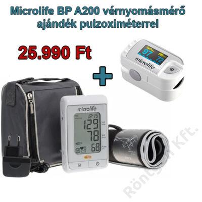 Microlife BP A200AFIB vérnyomásmérő adapterrel + ajándék pulzoximéterrel