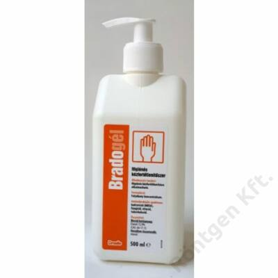 Bradogél 500 ml pumpás kéz és bőrfertőtlenítő gél