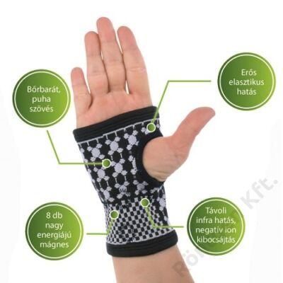 Vivafit mágneses csukló és kézfejszorító turmalinnal