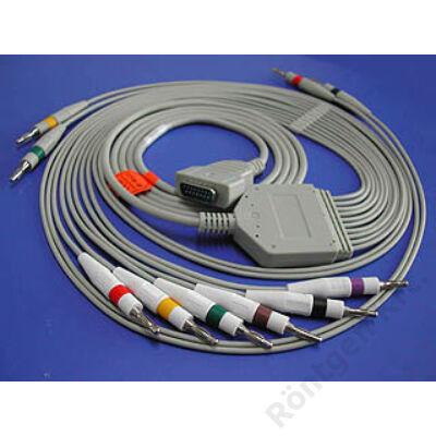 Defibrillátor védett paciens kábel, univerzális
