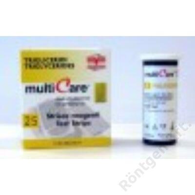MultiCare in készülékhez:  Trigricerid teszt / 25 db