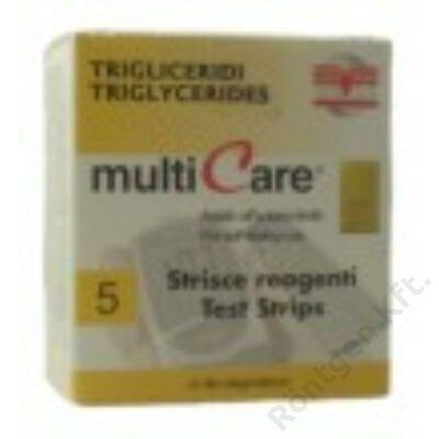MultiCare in készülékhez:  Trigricerid teszt / 5 db